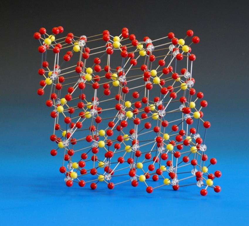 Crystal structure model of barium sulfate