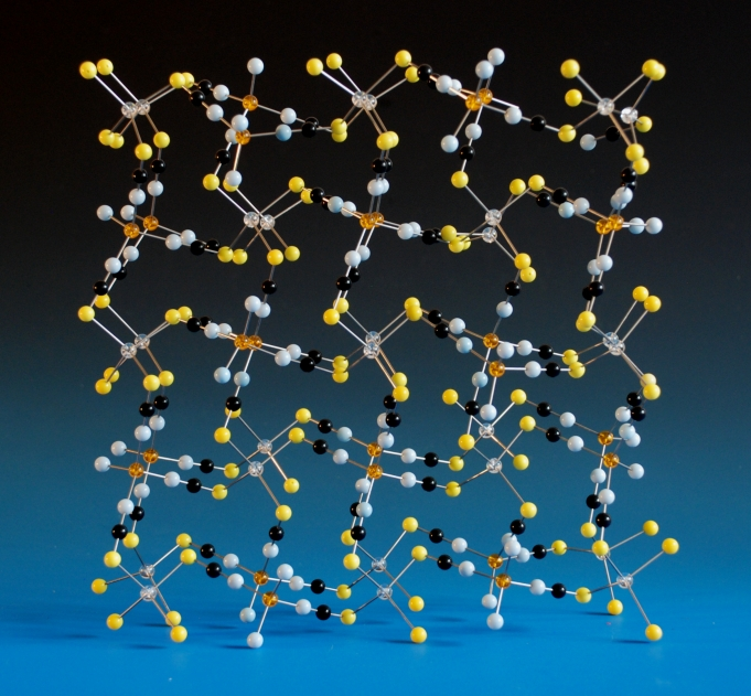 Crystal structure model of Cobalt Mercury Thiocyanate