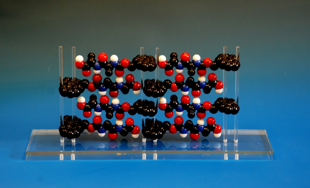 detail of a molecular model