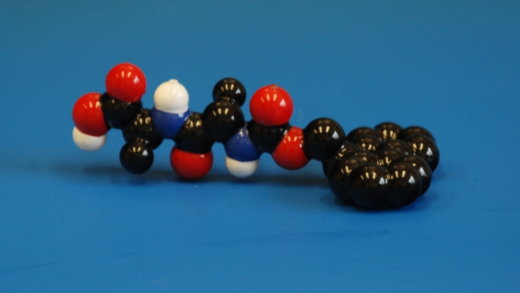 3d printed molecular model of Fmoc