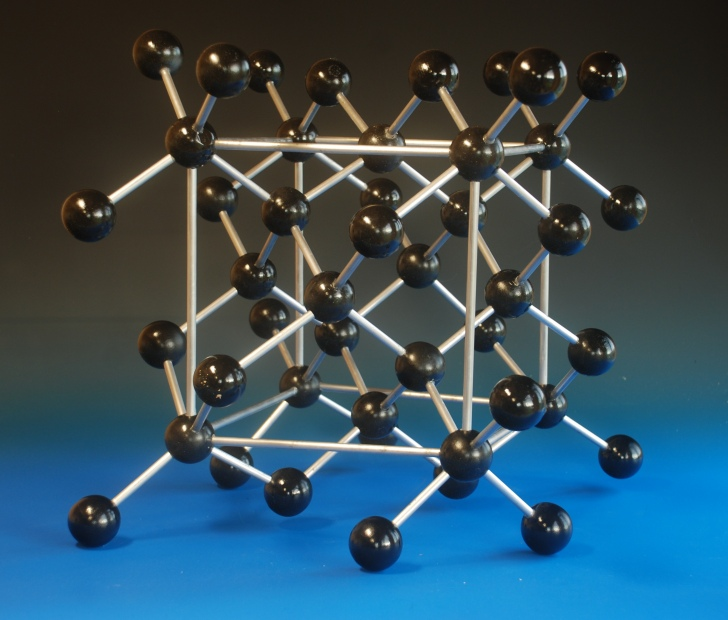 Brass molecular model of testosterone