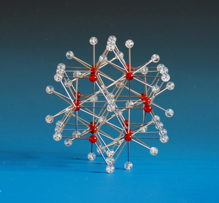 A crystal structure model of a magnesium zinc alloy