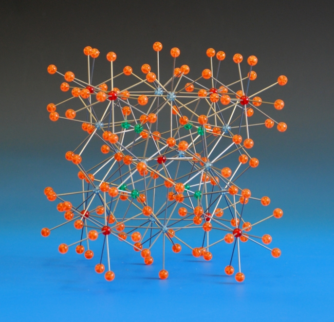 A crystal structure model of Ytterbium rhodium stannide alloy