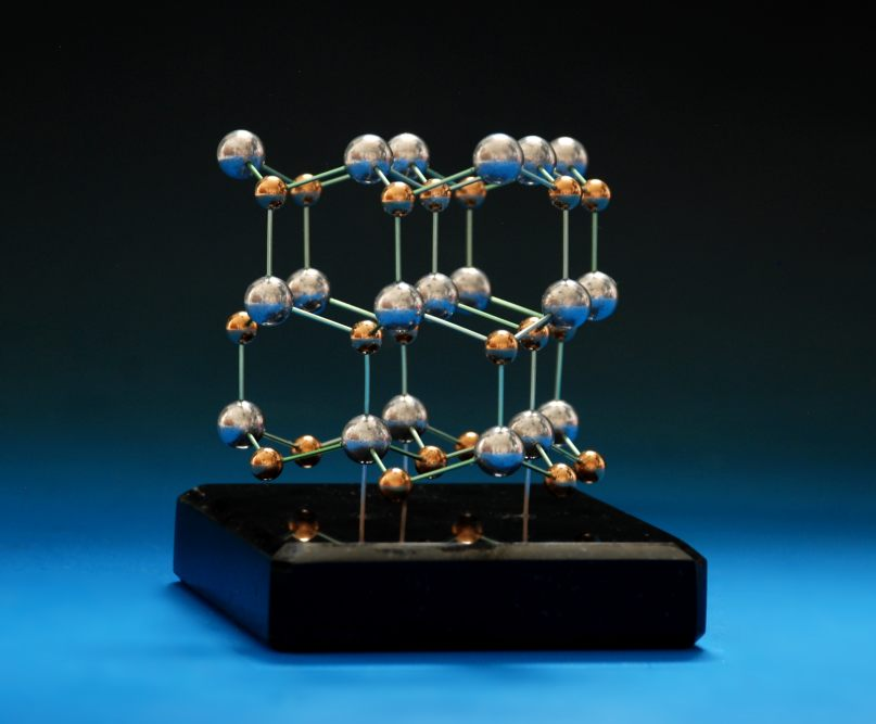 Gallium nitride model made with brass and aluminium balls