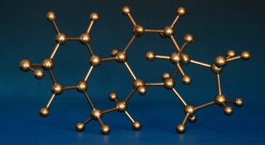 Brass molecular model of estradiol