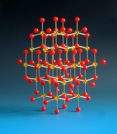 Crystal structure model of Rutile